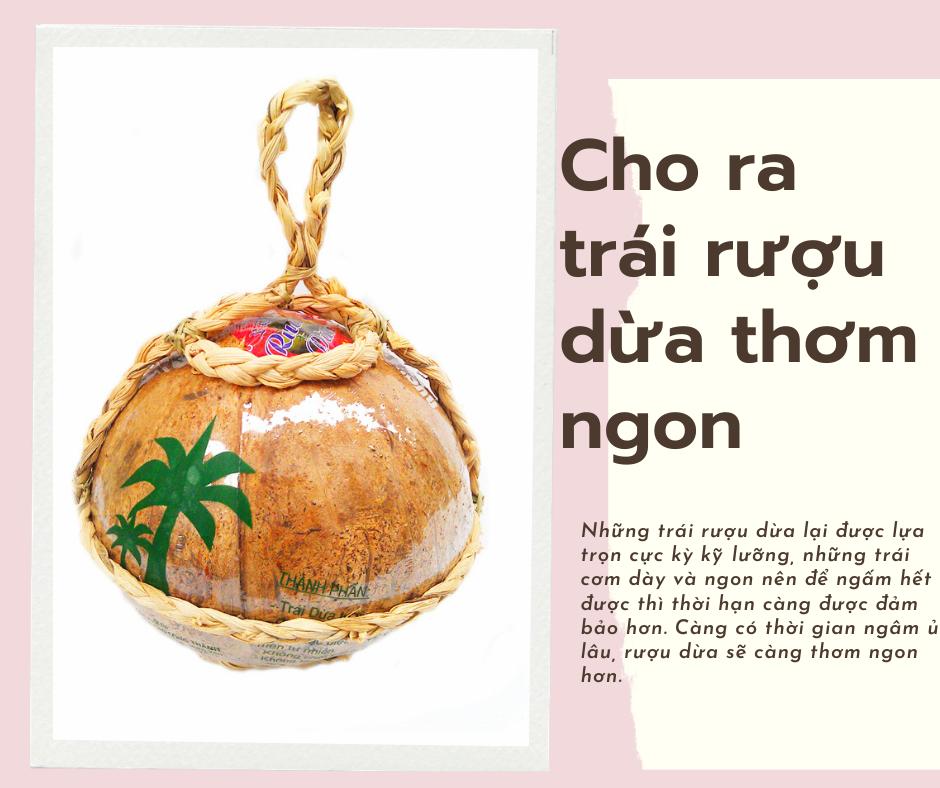 Rượu dừa Bến Tre Đào Công Thành nổi tiếng Hưng Yên